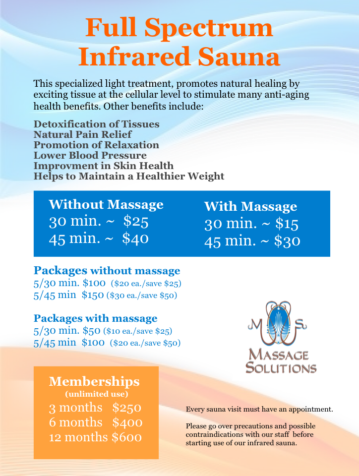 Sauna Prices Spring 2014
